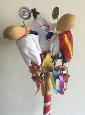 Vtg Mechanical Noisemaker Toy Adorable Cloth Dolls Portugal Party Water Buckets