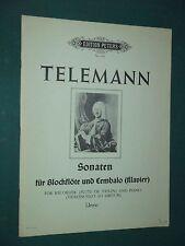 """Partitions Flûte à bec et  Piano """"2 Sonaten"""" G. P. TELEMANN"""