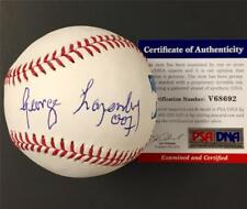 "GEORGE LAZENBY James Bond autograph ""007"" Inscription Signed Baseball ~ PSA COA"