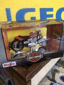 Harley Davidson 1972 XR750 Racing Maisto Bike Plastic Toy