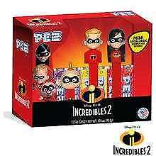DISNEY PIXAR THE INCREDIBLES 2 PEZ SET NEW!