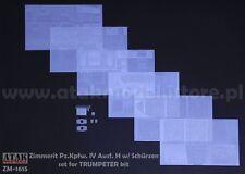 1/16 ATAK MODEL ZM-1615 ZIMMERIT for GERMAN PANZER IV H for TRUMPETER Kit