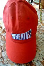 GREAT LOOKING WHEATIES CAP / BASEBALL HAT BRAND NEW ORANGE NEVER WORN  FAST Ship