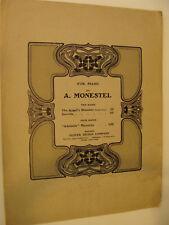 1905 Angel's Slumber Cradle Song by A Monestel piano solo