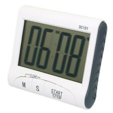 White Magnetic LCD Digital Kitchen Timer Count Down Egg Cooking Alarm Clock E7CX