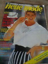 "👗 MAGAZINE VINTAGE ""NEUE MODE  STYLE MARIN MODE PRINTANIERE AVRIL  1987"