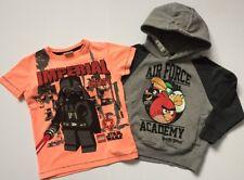 Siguiente pequeño paquete Chicos Star Wars T-shirt y con capucha puente de Angry Birds Edad 2-3 3