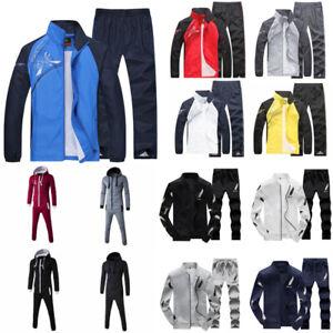 Men's Tracksuit Set Sport Coat Pullover Jacket Pant Sweat Pants Trousers Suit