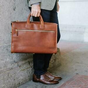New KORCHMAR Z1223 LUX Sawyer Leather Compact Bag Briefcase $625