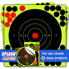 ATFLBOX 50Pack 8'' Bullseye Splatter and Self Adhesive Shooting Target Paper