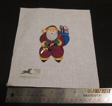 Hand painted Needlepoint Canvas Stitcher's Santa  Painted Pony Designs    900 8