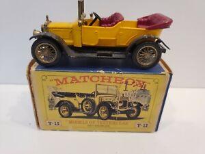MATCHBOX LESNEY MODELS of YESTERYEAR #Y-13b 1911 DAIMLER In Box