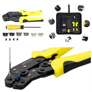Portable 4IN1 Wire Crimper Pliers Ratcheting Terminal Crimping Tool Kit For Car