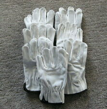 7 Pair, Cowhide Grain Leather Drivers, Work Safety Gloves (PPE) Large