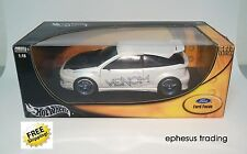 Hot Wheels Gold FORD Focus ZX3 Coupe VENOM Tuner White w/Black G4787 1/18 Nice!