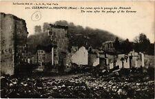 CPA   Clermont-en-Argonne (Meuse) - les ruines aprés le passage des ... (432374)