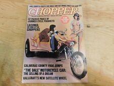 CHOPPER CUSTOM MOTORCYCLE GUIDE MAGAZINE 1976 WINTER HARLEY HONDA