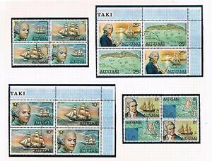 Aitutaki Bligh at Cook Is -Blks/4 [SC 96-100,C1-C6 [SG 114-119, 123-128] USED W6