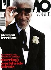 Vogue L'Uomo Magazine September 2009 fashion Cover 1 MORGAN FREEMAN