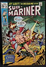1971 The SUBMARINER 36 Comic VF vtg Stan Lee Key Issue VIBRANT Color 70s