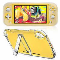 For Nintendo Switch Lite Transparent Shockproof Protective Case Stand Holder