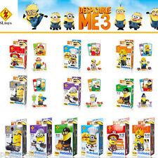 6pcs ME3 Minions Micro Nano Blocks Building Blocks Minifigure Boys Kids Toy Gift