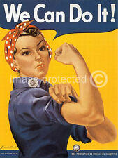 We Can Do It WW2 US Army Propaganda Vintage Poster 18x24