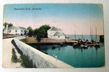 Devonshire Dock Bermuda Postcard Fishing Boats Ship Sailboats #1wc33
