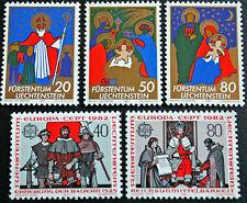 LIECHTENSTEIN - timbre/stamp Yvert et Tellier n°729 à 733 n** (cyn5)