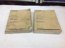 (2) Cat Caterpillar 16G Grader 93U11179-2678 Vol. 1 & 2 Parts Manual 1989. Lot 1
