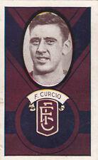 Fitzroy Football Club F Curcio on 1933 Allen's Irish Moss gum jubes card fine