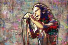 EDDIE VEDDER Poster, PEARL JAM Eddie Vedder Pop Art with Free Shipping US