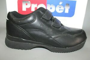 Women's Propet #W3902 Black Hook and Loop Casual Oxfords
