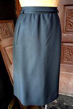 VTG PANTHER Womens Union Made Black Midi Skirt