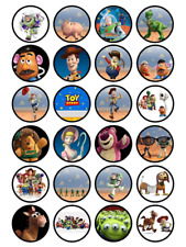24 x Large Toy Story Edible Cupcake Toppers Birthday Party Cake Decoration