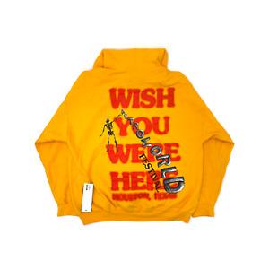 Travis Scott Astroworld Wish You Were Here Yellow Hoodie (93665-537) Men M-XL