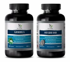 Weight loss energy pills - ANTI GRAY HAIR – GRAVIOLA COMBO - nettle seeds organi