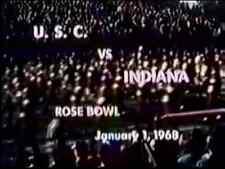 1968 Rose Bowl Football DVD  SOUTHERN CAL vs INDIANA  McKay  Pont  FREE SHIPPING