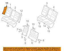 FORD OEM 08-11 Focus Rear Seat-Bolster Right 8S4Z5466892BA