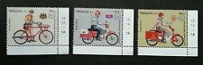 Postman's Uniform Malaysia 2012 Vehicle Bicycle Motorcycle (stamp plate) MNH