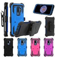 For Samsung Galaxy S9/S9 Plus Shockproof Belt Clip Holster Kickstand Case Cover
