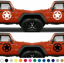 Set of 2 America US U.S. Army Armed Forces Military Star Vinyl Decal Sticker  V6