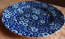 """Burleigh Calico Blue white Side Plate 7""""D"""