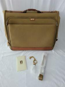 NEW HARTMANN Nylon with Leather Trim Fold Over Carry On  Travel Garment Bag