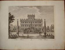 Stampa antica Villa Altieri roma old print 1796 M. Vasi