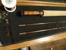 "Custom Bamboo Fly Rod Flamed Ph Young Midge Taper 6' 3"" Maple seat Engraved Band"