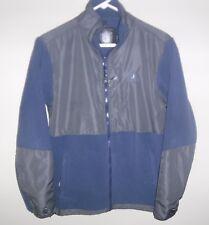 Rugged Bear Blue Gray Fleece Jacket Boys XL 18/20 full zip front liner