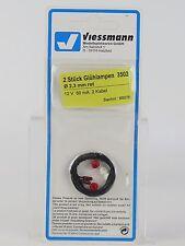 3502 VIESSMANN ECHELLE H0 ampoule 2,3MM. 3U. ROUGE/Pièce de rechange Ampoule