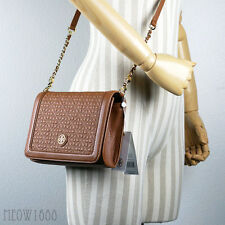 New Authentic Tory Burch Luggage BRYANT Quilted Cross Body Purse Bag 34801 $495