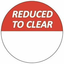 Audioprint Ltd. 500 Pack of Reduced To Clear Stickers 30mm Red